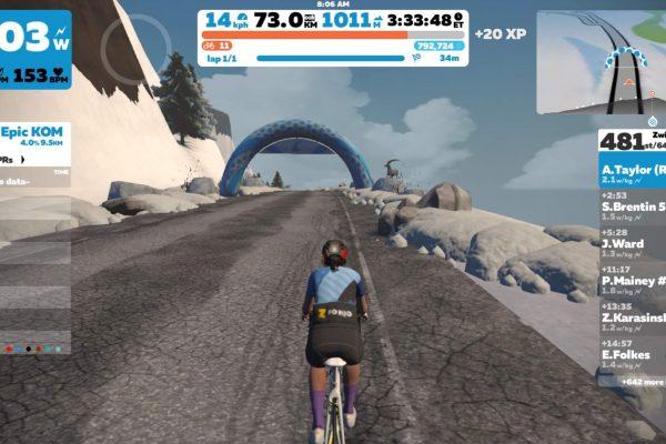 Amy on Virtual bike